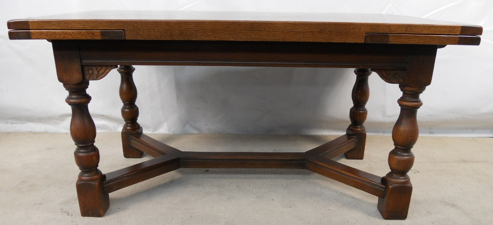 Spanish Influenced Fruitwood Refectory Dining Table  : large refectory dining table heavy quality oak extending table sold 3 1689 p from www.hargapass.com size 977 x 446 jpeg 165kB